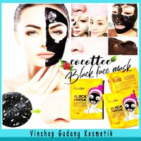Cocottee Black mud Face Mask Brightening Peel Off Mask BPOM - 1 Pack 10 Sachet