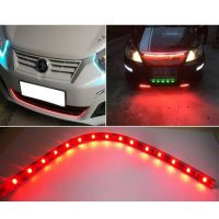 [globalbuy] 10pcs DC12V 30cm 15 SMD LED Car Truck Flexible Waterproof Light Strip Red/4524790
