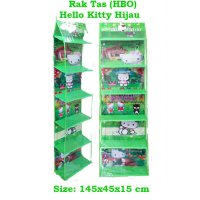 HBO Hello Kitty Hijau (Hanging Bag Organizer) Rak Tas Gantung Karakter