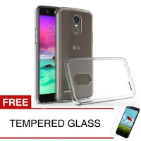 Case for LG Stylus 3 / M400 - Clear + Gratis Tempered Glass - Ultra Thin Soft Case