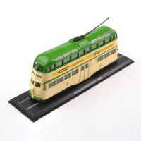 [globalbuy] 1/76 Scale Diecast Green Bus Truck Car Model Toys Atlas Blackpool Balloon Tram/4480087
