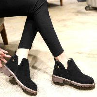 [The shoes] Simple Daily Suede Ankle Boots CK4696 fashion style from to korea free shipping