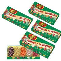 [poledit] (Set/4) Jelly Belly Christmas Holiday Favorite Flavored Candy Beans Gift Box (T1/14411479