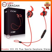 Headset Bluedio CCK KS Plus Sports Earphone Wireless Bluetooth 4.1 Stereo For Outdoor Sports - Merah