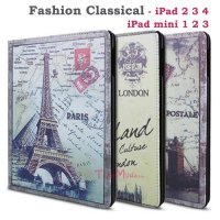 Fashion Book Cover iPad 2 3 4 iPad mini 1 2 3 retina Classical Paris England Stand case Autolock