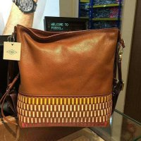 Fossil Maya Hobo Multi Brown Leather. Tas Fossil Origin