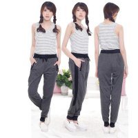 Jogger Murah Wanita / Kurtie Women's Basic Jogger Pants With Side List Zipper