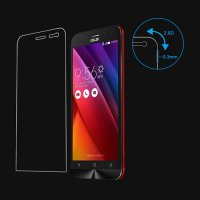 [globalbuy] 2PCS Tempered Glass For Asus Zenfone 2 Laser Ze500KL 5 inch Ultra-thin Screen /4512171
