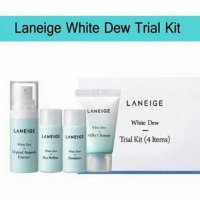 LANEIGE White Dew Trial Kit 4item 4 in 1 Penyegar Pemutih Kulit Wajah - SKDO