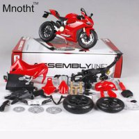 [globalbuy] 1:12 DCT 1199 Red Assembly Line DIY Diecast Motorcycle Model Mini Motorcycle V/4463560
