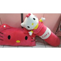 Set bantal dan guling jumbo Hello kitty