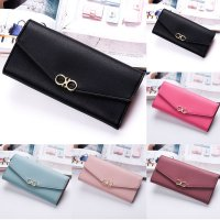 Women Fashion Leather Wallet Leisure Clutch Bag Long Purse