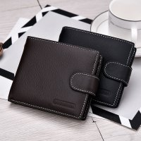 Men Short Bifold Business Leather Wallet Money Card Holder Bag Purse