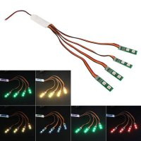 [globalbuy] LED Light Strip Night Light w/ Flashing Controller for RC Quadcopter Drone D5N/4458036