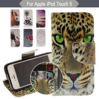 [globalbuy] Colorful Painted Coque For Apple iPod Touch 5 Touch 6 Case Silicone PU Leather/4508622