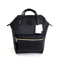 Anello Original Backpack PU Leather Medium - Black
