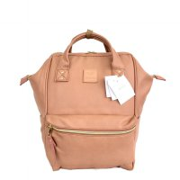 Anello Original Backpack PU Leather Medium - Brown