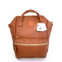 Anello Original Backpack PU Leather Medium - Camel
