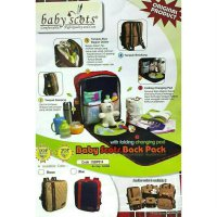 Tas Ransel Bayi Baby Scots Bacj Pack With Folding Changing Pad