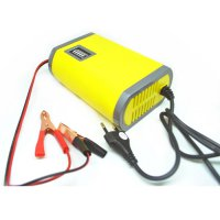 Charger motor di aki Portable Motorcrycle Car Battery Charger 6A/12V