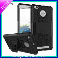 [Promo Gajian] Case Rugged Xiaomi Redmi 3 Pro 3S Prime Soft+Hard Back Stand Armor