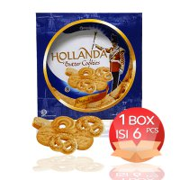 (HBCK) Hollanda Butter Cookies 300 gram by Garuda Food 1 Dus = 6 kaleng