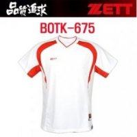[DCGlobal] ZETT Jet Baseball Baseball Short Sleeve Tee T-shirt Summer BOTK-675 White Color