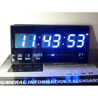Jam Dinding Digital TNT warna biru