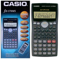 Kalkulator Scientific CASIO FX-570MS Asli dan Bergaransi