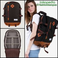 (Termurah) Camera Backpack - Tas Ransel Kamera Bag - Esgotado - Camero P - Black