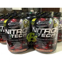 NITROTECH 4 LBS NITRO TECH 4LBS WHEY PROTEIN ISOLATE SUSU FITNES
