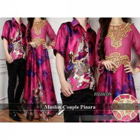 Busana Muslim Couple Murah | Baju Couple Muslim Pasangan | Dress Sarimbit Couple | Lebaran