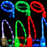 [globalbuy] 1M Colorful LED light luminous phone charger charging data sync transfer line /4503656