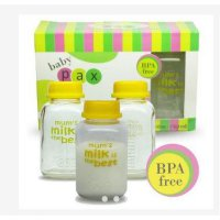 Botol Asi Kaca Babypax Breastmilk Glass Bottle Pack 150ml BPA Free (Isi 3) FANYBABY