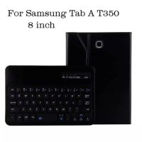 [globalbuy] Bluetooth Keyboard For Samsung Galaxy Tab A 8.0 T350 Slim Leather Case Cover S/4303615