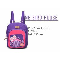 (Termurah) Tas Ransel Mini Wanita Maika Hangout Edition Bird House / Best Seller
