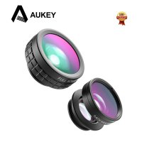 [High Quality] AUKEY 180 Degree Fisheye Lens + Wide Angle + Macro Lens 3 in 1 PL-A1