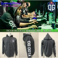 Hoodie Team OG Dota 2 Grey 2018 - Jaket Team OG Dota 2 Grey 2018