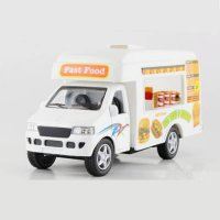 [globalbuy] KINSMART Toy Cars Simulation Fast Food Ice Cream Hamburger Vehicle Truck Model/4452708