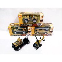 Diecast Military Car - DC Mobil Heli Militer Coklat Mix Model (TH615)