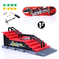 [globalbuy] Skate Park Ramp Parts for Fingerboard Finger Board Ultimate Parks Boys Games A/2156986