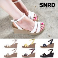 [Paperplanes] SNRD Womens Fabric Wedge Sandals SN212 korean men women shoes style