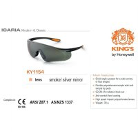 Kacamata Safety KING'S KY 1154 Smoke / Silver Mirror Lens