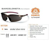 Kacamata Safety KING'S KY 734 Smoke / Silver Mirror Lens