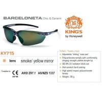 Kacamata Safety KING'S KY 715 Smoke / Yellow Mirror Lens