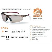 Kacamata Safety KING'S KY 733 Clear / Silver Mirror Lens