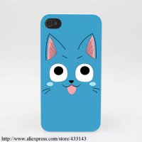 [globalbuy] 248M Fairy Tail Happy Face Hard White Cover Case for iPhone 4 4s 5 5s SE 5C 6 /4229891