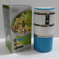 LUNCH BOX 3 SUSUN LUMIO - BIRU / TEMPAT MAKAN