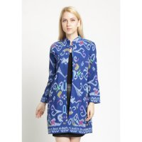 Long Coat Troso-Blue
