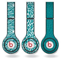 [macyskorea] VictoryStore Teal Animal Print Set of 3 Headphone Skins for Beats Solo HD Hea/5221373